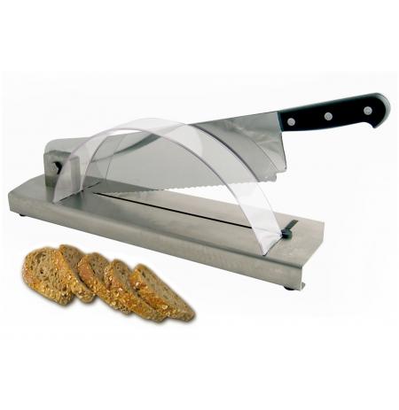 Kráječ pečiva stolní, nerezová základna, délka nože 35 cm