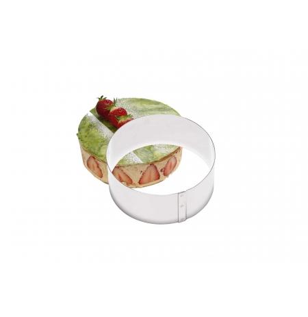 Ráfek na dorty kulatý 220x60 mm, nerezový