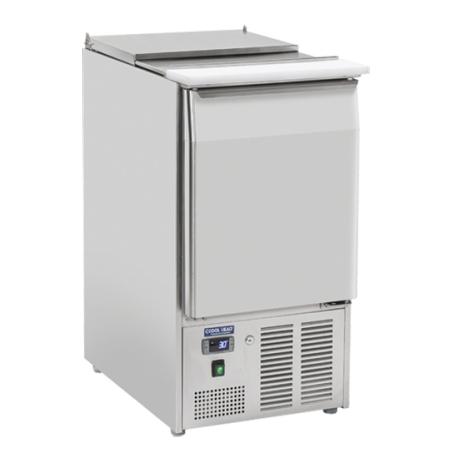 Chlazený stůl saladeta otevřená nerezová CR 45A, 1 dveřová