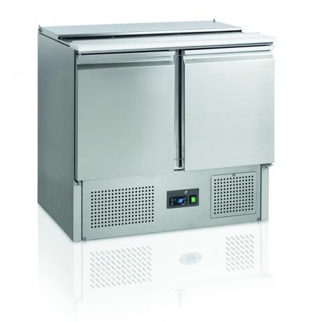 Chladící saladeta dvoudveřová otevřená s víkem MT 900