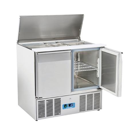 Chlazený stůl saladeta otevřená nerezová CR 90A, 2 dveřová