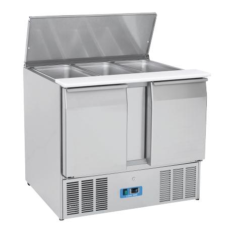 Chlazený stůl saladeta otevřená nerezová CR 92A, 2 dveřová