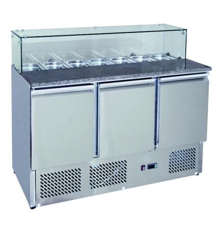 Chladící stůl Pizza Saladeta MPS-1374GR, 3x dveře