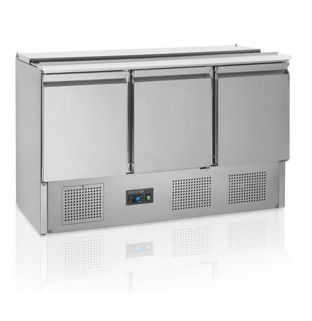 Chladící Saladeta nerezová otevřená Tefcold GS368, 3x dveře