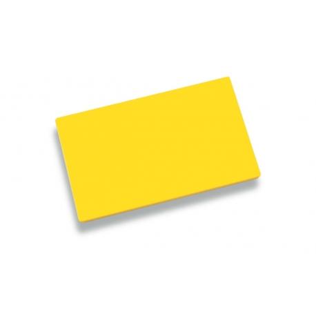 Deska krájecí 50x30x2cm žlutá, PE HD 500