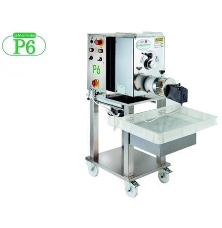 Výrobník tlačených těstovin elektrický P6 s hnětačem 6kg včetně 4 matric, 400V