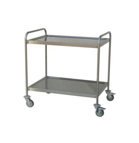 Servírovací vozík se dvěmi policemi 1000 x 500 mm
