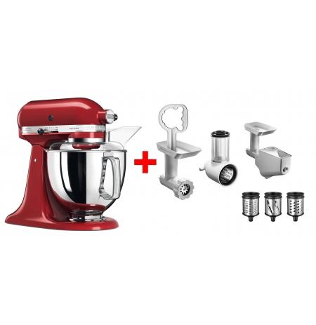Robot kuchyňský Artisan KitchenAid 5KSM175PSEER + Balíček 5KSM2FPPC