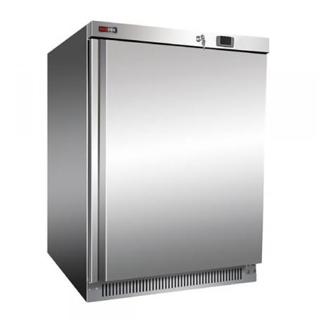 Skříň mrazící DF 200 S, plné dveře, nerezové opláštění