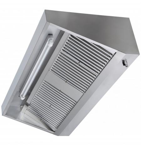 Digestoř nástěnná nerezová 80x70x45 cm včetně osvětlení a tukových filtrů