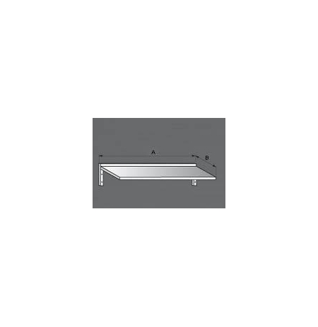 Police nerezová nástěnná jednopatrová, rozměr (d x š): 1600 x 300 mm