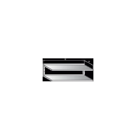 Police nerezová nástěnná dvoupatrová, rozměr (d x š): 500 x 300 mm