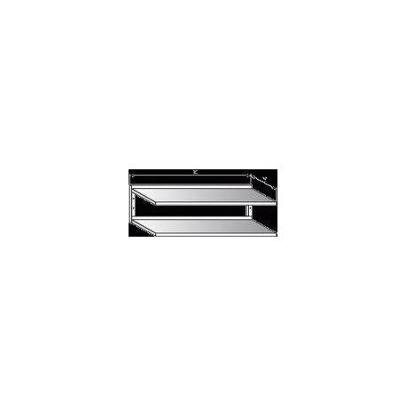 Police nerezová nástěnná dvoupatrová, rozměr (d x š): 600 x 300 mm