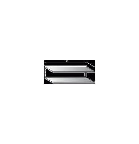 Police nerezová nástěnná dvoupatrová, rozměr (d x š): 1400 x 300 mm
