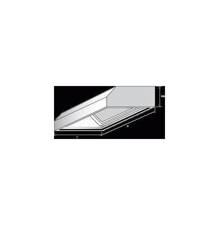 Digestoř nástěnná, rozměr (d x š): 700 x 900 mm