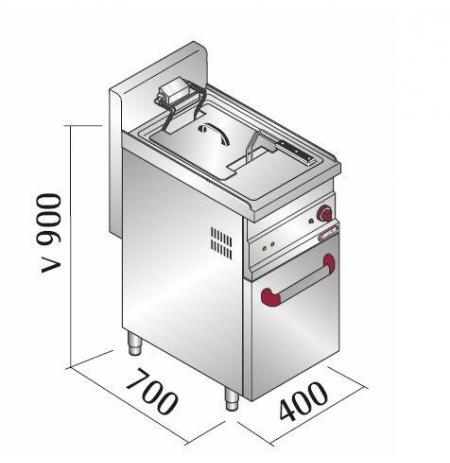 Elektrická fritéza E7F10-4M