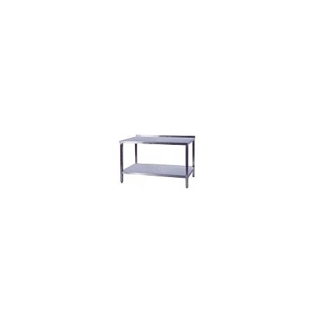 Pracovní stůl nerezový s policí, rozměr (d x š): 700 x 700 x 900 mm
