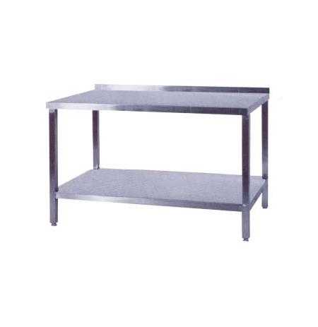 Pracovní stůl nerezový s policí, rozměr (d x š): 1000 x 700 x 9